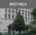 Meetings graphic with image of VA Supreme Court Building